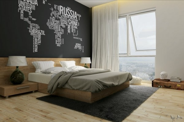 idee deco chambre mur. Black Bedroom Furniture Sets. Home Design Ideas