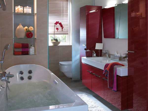 Decoration Salle De Bain Rouge  Amazing Home Ideas