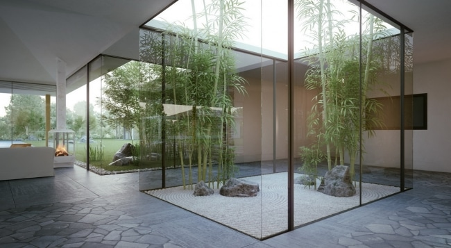 Jardin interieur bambou for Pure home designs