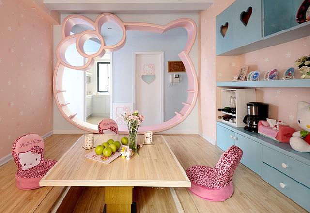 id es d coration chambre enfant hello kitty. Black Bedroom Furniture Sets. Home Design Ideas