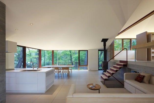 maison contemporaine avec d coration japonaise. Black Bedroom Furniture Sets. Home Design Ideas