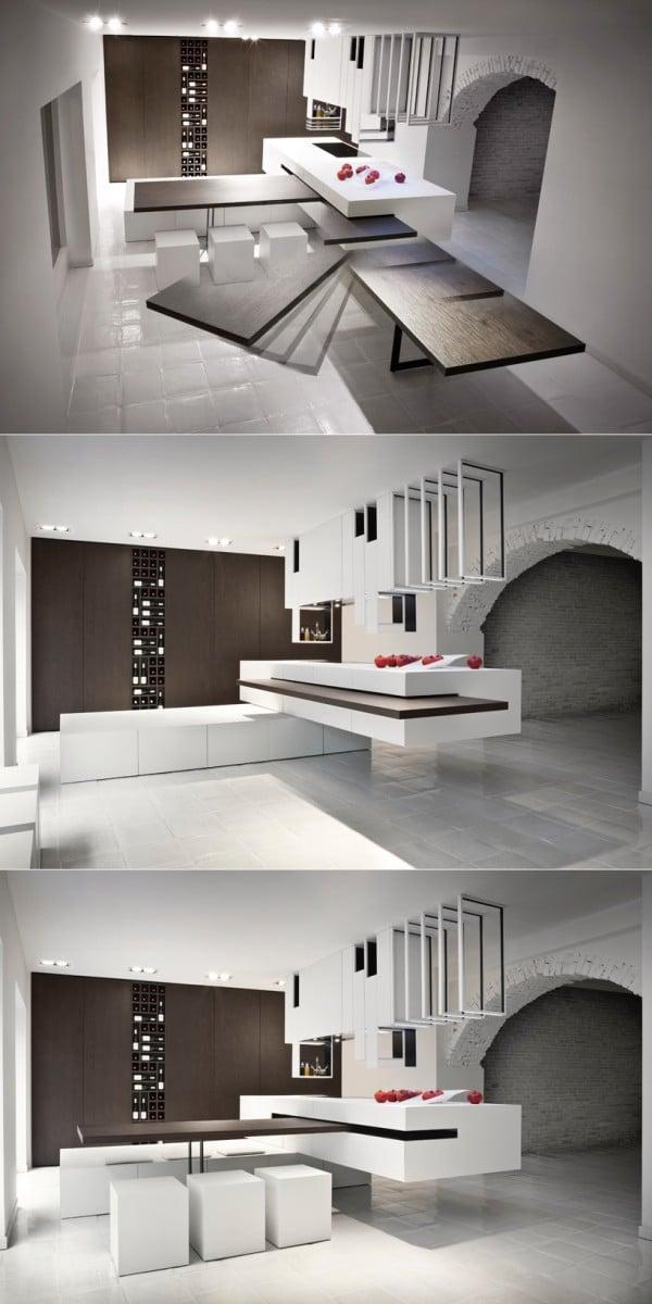 25 plans de travail de cuisine uniques design bois. Black Bedroom Furniture Sets. Home Design Ideas