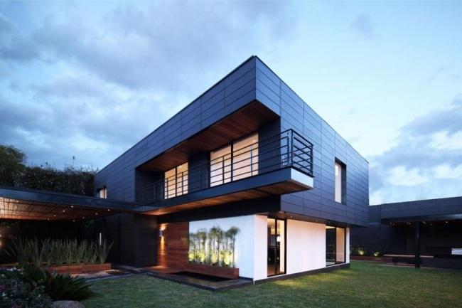 Maison Contemporaine Avec Une Facade En Ceramique Nbk