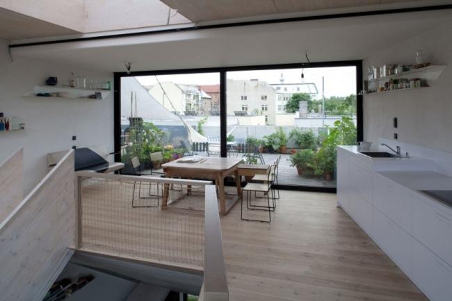 Id es d coration maison de ville moderne et contemporaine - Baie vitree pour terrasse ...