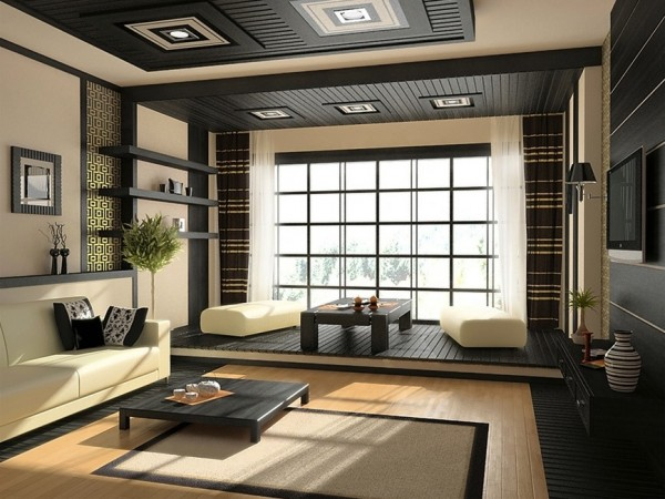 Id es d coration japonaise pour un int rieur zen et design - Appartement au design traditionnel moderne colore ...