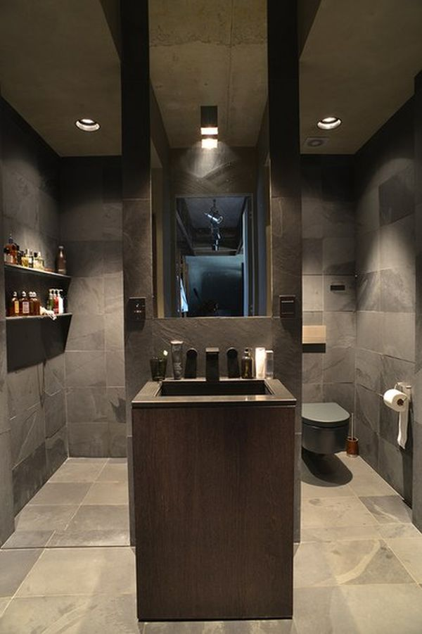 décoration style industriel loft - idées déco loft - Salle De Bain Style Loft