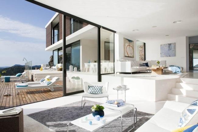 Maisons Modernes Avec Des Grandes Baies Vitres