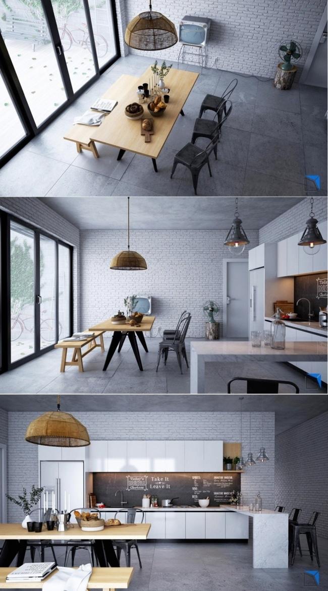 20 id es deco de salles manger design et contemporaine. Black Bedroom Furniture Sets. Home Design Ideas