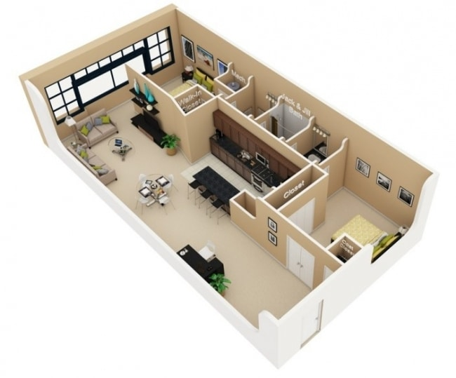 plan de appartement f3