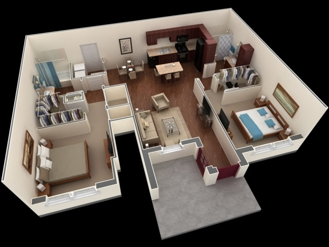 plan appartement f3 70m2