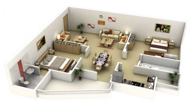 plan amenagement appartement 80m2