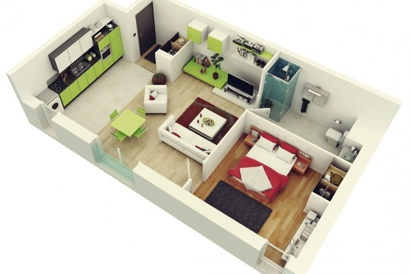 plan appartement 32 m2
