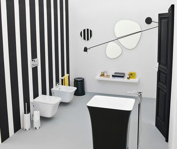 deco salle bain noir blanc - Image Salle De Bain Noir Et Blanc