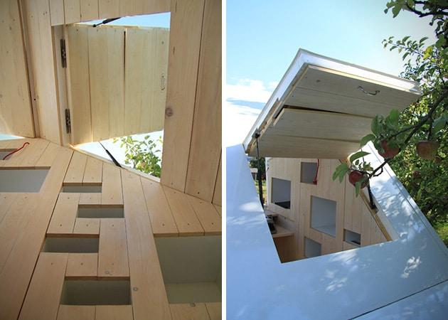 Cabane minimaliste en bois enti rement modulaire - Cabane de jardin habitable versailles ...