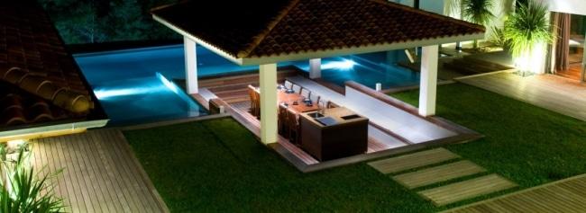 Magnifique villa avec piscine dans le pays basque for Cuisine exterieure piscine