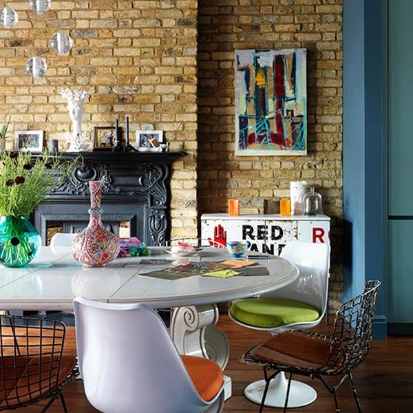 Kids Rooms Decorating Ideas Red Brick Wallpaper: Rénovation Et Décoration Industrielle D'une Ancienne Maison