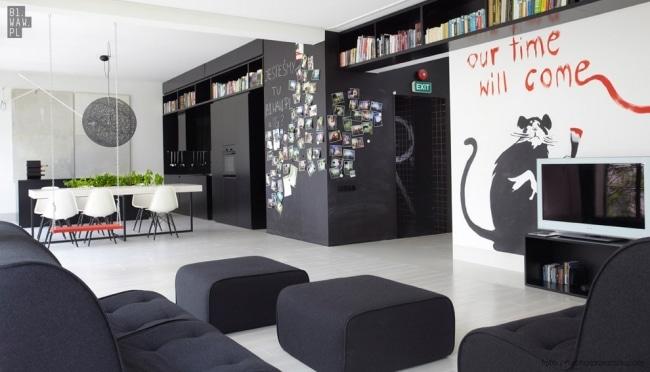 Idee decoration interieur bansky for Idee de deco studio