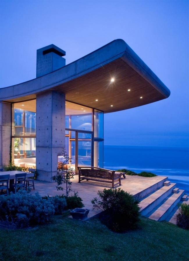 Extraordinaire maison contemplative situ e sur une falaise - Camera da letto onda ...