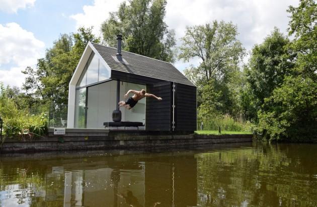 Petite maison de vacances modulaire design for Maison modulaire design