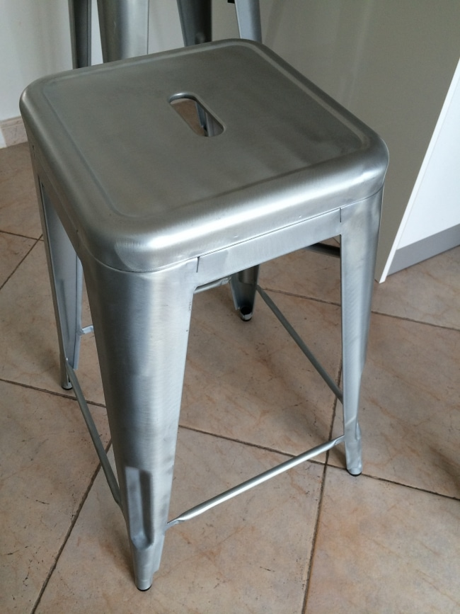 tolix tabouret h65 gris