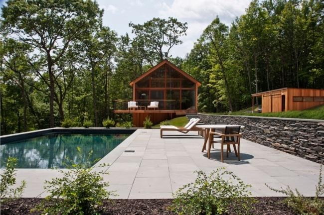 chalet contemporain en bois de lang architecture. Black Bedroom Furniture Sets. Home Design Ideas