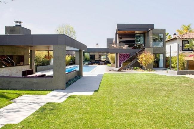 Jardin maison moderne architecte for Maison moderne jardin
