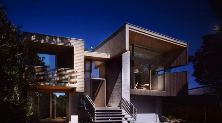 maison d 39 architecte avec bardage bois en bord de mer. Black Bedroom Furniture Sets. Home Design Ideas