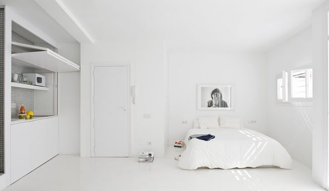 Appartement Blanc Ultra Minimaliste