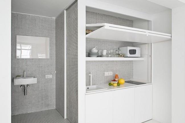 Petite cuisine mosaique for Petite cuisine minimaliste