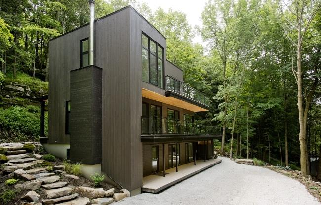 chalet contemporain bois design. Black Bedroom Furniture Sets. Home Design Ideas