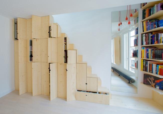 escalier placards. Black Bedroom Furniture Sets. Home Design Ideas