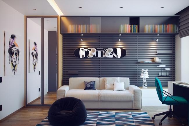 idee deco chambre ado 01. Black Bedroom Furniture Sets. Home Design Ideas