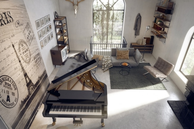 Idee decoration salon avec piano for Idee deco salon design