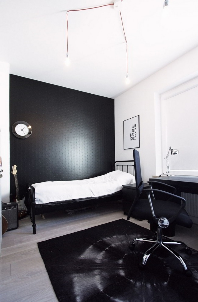 bureau deco scandinave. Black Bedroom Furniture Sets. Home Design Ideas