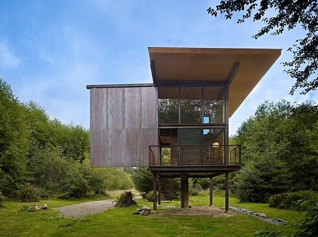 cabane-contemporaine-murs-verre