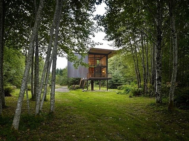 cabane dans les bois. Black Bedroom Furniture Sets. Home Design Ideas