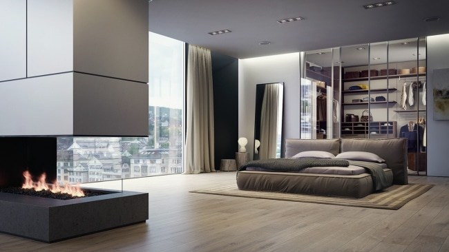 21 id es de d coration de chambres simples et pur es. Black Bedroom Furniture Sets. Home Design Ideas