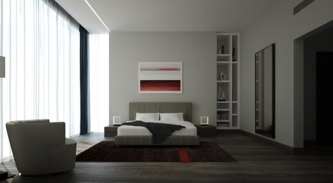 Chambre epuree for Decoration chambre epuree