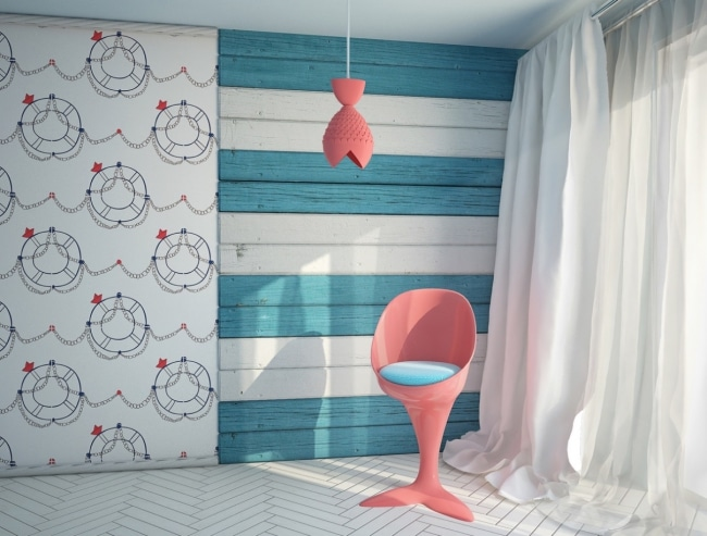 Deco chambre enfant theme ocean for Decoration chambre ocean