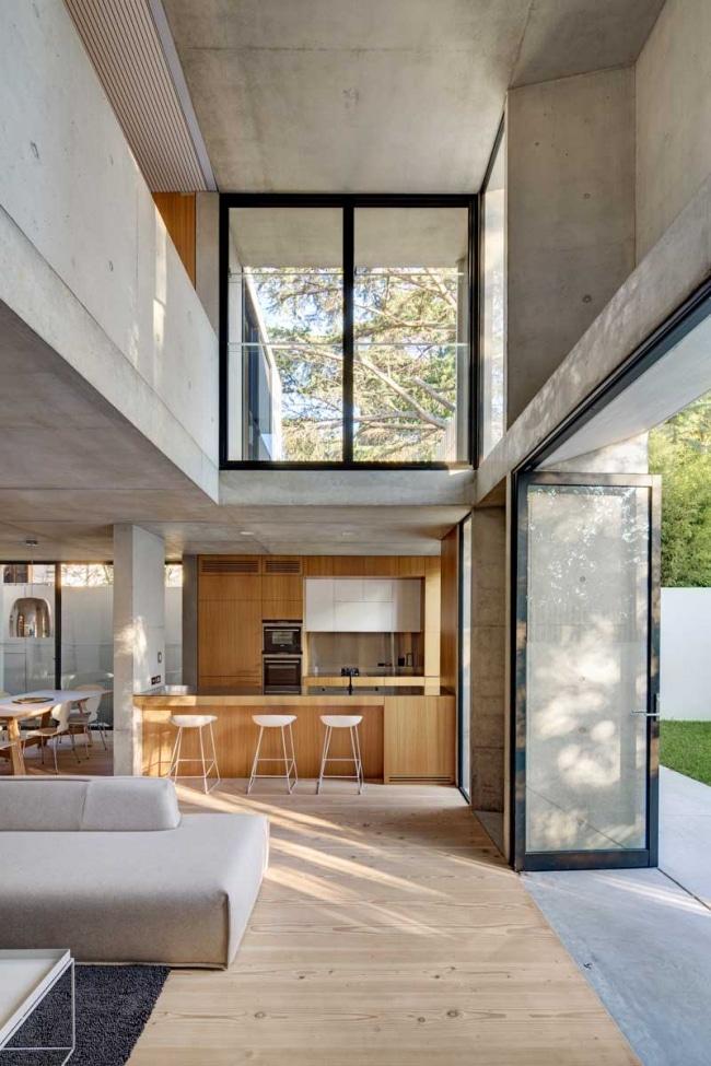 Decoration interieur bois beton for Deco interieur maison bois