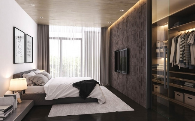 21 id es de d coration de chambres simples et pur es for Interior design window behind bed