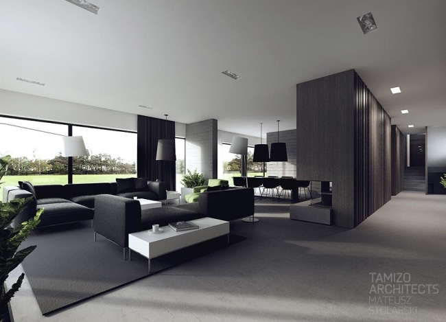 Idee decoration interieur noir blanc 09 for Idee interior design