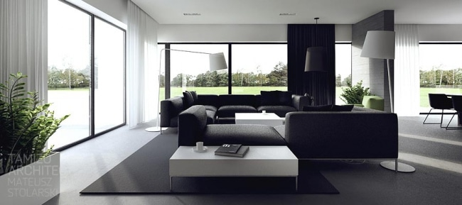 id es d coration interieur en noir et blanc. Black Bedroom Furniture Sets. Home Design Ideas