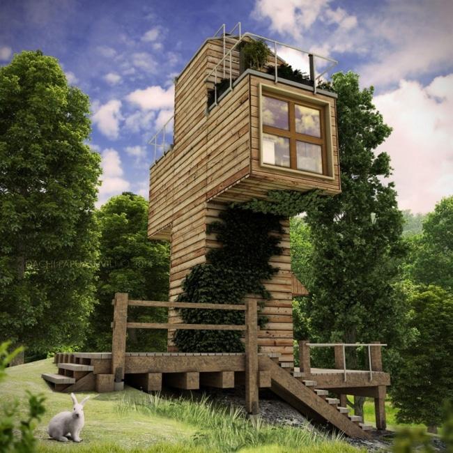 maison bois eco responsable. Black Bedroom Furniture Sets. Home Design Ideas
