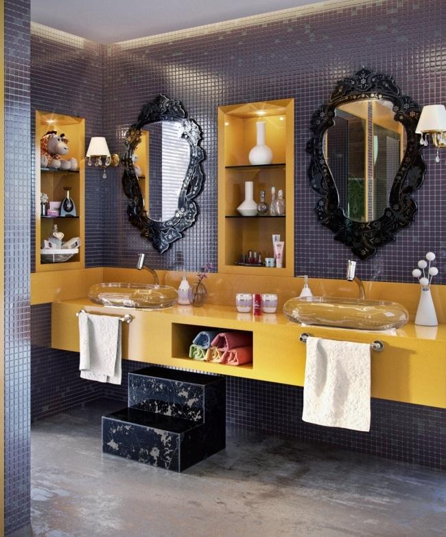 salle bain colore