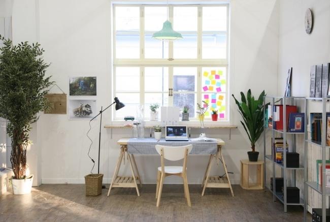 bureau domicile deco hipster. Black Bedroom Furniture Sets. Home Design Ideas