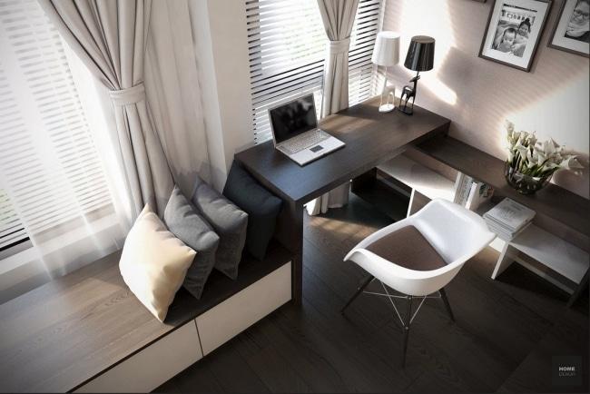 Bureau domicile moderne for Oficinas pequenas modernas en casa