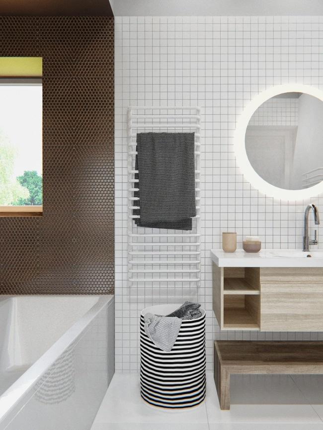 carrelage-salle-bain-damiers