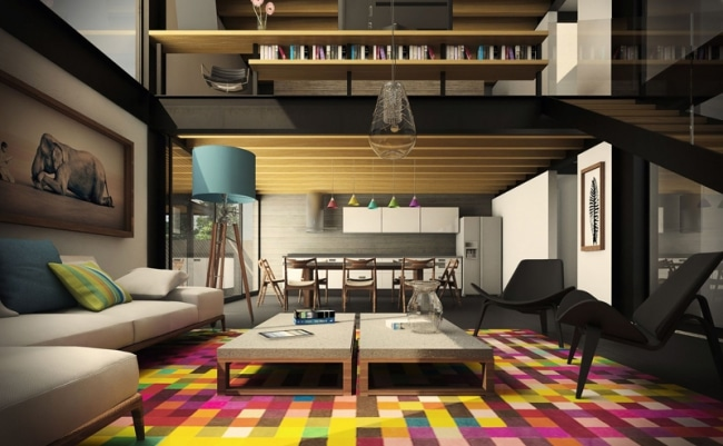 idee-decoration-salon-mezzanine