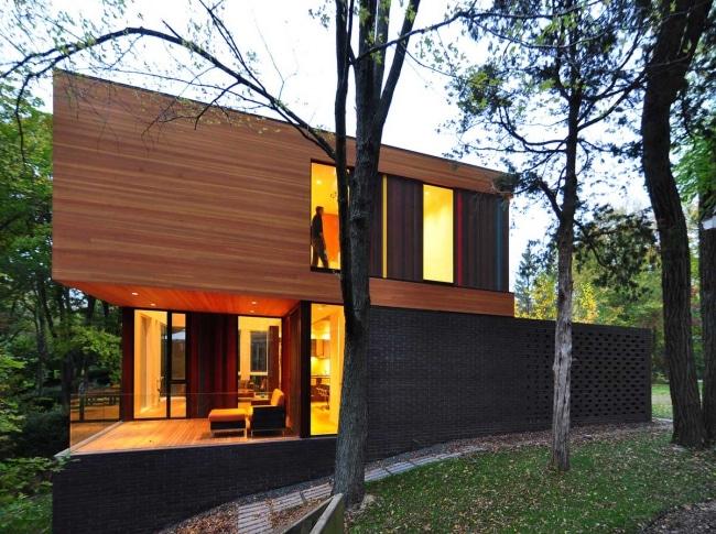 Maison contemporaine cube for Maison cube bois